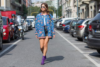Negin Mirsalehi attending Etro fashion show during Milan Fashion Week